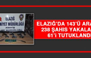 Elazığ'da 143'ü Aranan 238 Şahıs Yakalandı,...