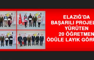 Elazığ'da 20 Öğretmen Ödüle Layık Görüldü