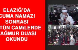 Elazığ'da Cuma Namazı Sonrası Bütün Camilerde...