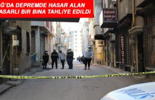 Elazığ'da Depremde Hasar Alan Orta Hasarlı Bir...