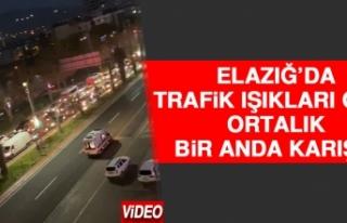 Elazığ'da Trafik Işıkları Gitti Ortalık Bir...
