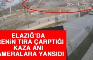 Elazığ'da Trenin Tıra Çarptığı Kaza Anı...
