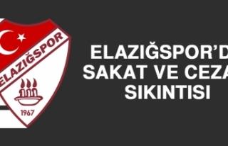 Elazığspor'da Sakat ve Cezalı Sıkıntısı