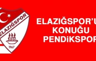 Elazığspor'un Konuğu Pendikspor
