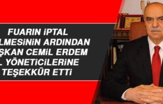 Esnaf ve Sanatkarlar Odaları Başkanı Cemil Erdem...