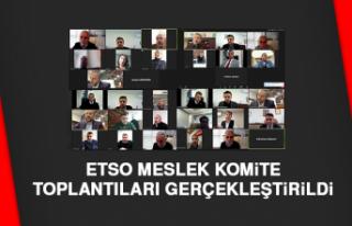 ETSO Meslek Komite Toplantıları Gerçekleştirildi