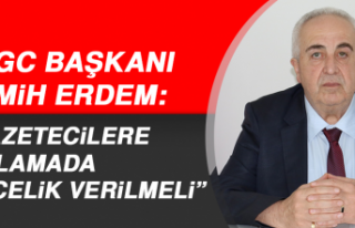"""FHGC Başkanı Erdem: """"Gazetecilere aşılamada..."""