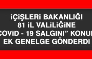 """İÇİŞLERİ BAKANLIĞI 81 İL VALİLİĞİNE """"COVİD-19..."""