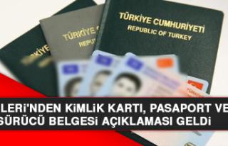 İçişleri'nden Kimlik Kartı, Pasaport Ve Sürücü...
