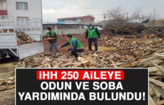 İHH 250 Aileye Odun ve Soba Yardımında Bulundu