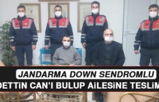 Jandarma, Down Sendromlu Saadettin Can'ı Bulup...
