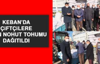 Keban'da Çiftçilere 8 Ton Nohut Tohumu Dağıtıldı