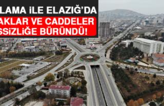 Kısıtlama İle Elazığ'da Sokaklar ve Caddeler...