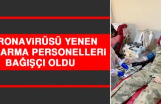 Koronavirüsü Yenen Jandarma Personelleri Bağışçı...
