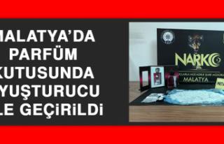 Malatya'da Parfüm Kutusunda Uyuşturucu Ele Geçirildi