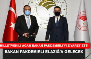 """Milletvekili Ağar: """"Bakan Pakdemirli, Elazığ'a..."""