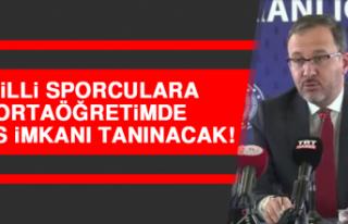 Milli Sporculara Ortaöğretimde Burs İmkanı Tanınacak!