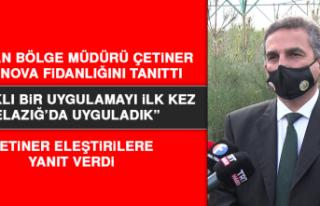 Orman Bölge Müdürü Çetiner, Altınova Fidanlığını...