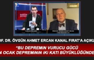 Prof. Dr. Ahmet Ercan'dan, Elazığ Depremiyle...