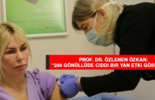"""Prof. Dr. Özkan: """"280 gönüllüde ciddi bir yan..."""