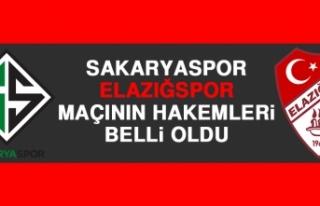 Sakaryaspor-Elazığspor Maçının Hakemleri Belli...