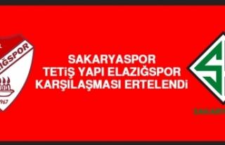 Sakaryaspor-Tetiş Yapı Elazığspor Karşılaşması...