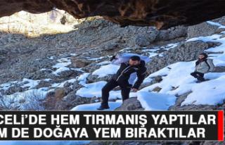 Tunceli'de Hem Tırmanış Yaptılar, Hem De Doğaya...
