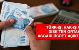 Türk-İş, Hak-İş ve DİSK'ten Ortak Asgari...