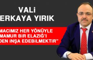 Vali Erkaya Yırık: 2020 Yılını Zorlu Bir Şekilde...