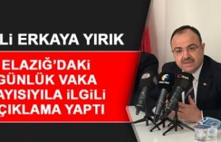 Vali Erkaya Yırık, Elazığ'daki Günlük Vaka...