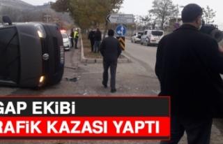 YGAP EKİBİ TRAFİK KAZASI YAPTI