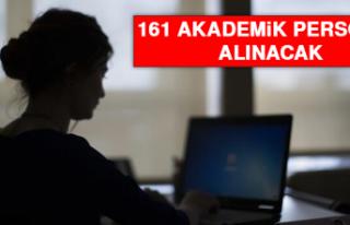 161 Akademik Personel Alınacak
