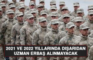 2021 ve 2022 Yıllarında Dışarıdan Uzman Erbaş...