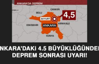 Ankara'daki 4.5 büyüklüğündeki deprem sonrası...