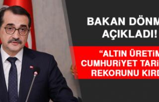 Bakan Dönmez Açıkladı! Altın Üretimi Cumhuriyet...