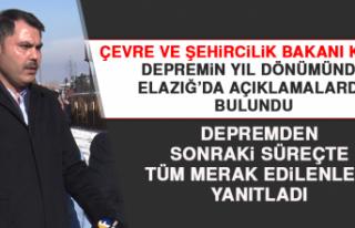 Bakan Kurum, Depremin Yıl Dönümünde Elazığ'da...