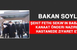 Bakan Soylu, Şehit Fethi Sekin'in Babası İle...