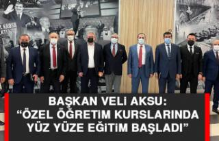 """Başkan Veli Aksu: """"Özel öğretim kurslarında..."""
