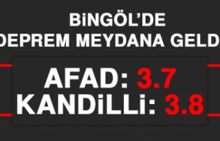 Bingöl'de 3.7 Büyüklüğünde DepremMeydana...