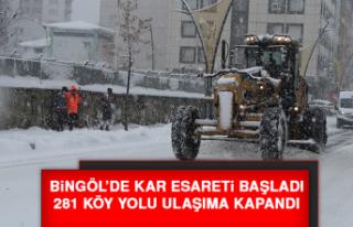 Bingöl'de Kar Esareti Başladı, 281 Köy Yolu...