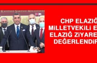 CHP Elazığ Milletvekili Erol, Elazığ Ziyaretini...