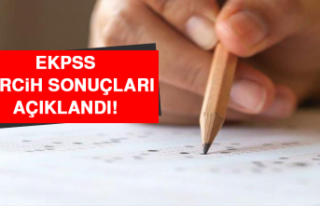 EKPSS Tercih Sonuçları Açıkladı!