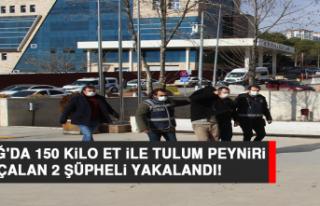 Elazığ'da 150 Kilo Et İle Tulum Peyniri Çalan...