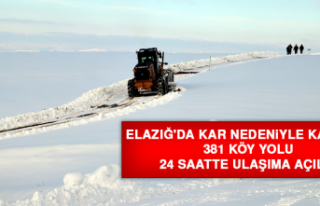 Elazığ'da Kar Nedeniyle Kapanan 381 Köy Yolu...