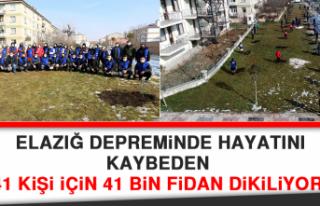 Elazığ Depreminde Hayatını Kaybeden 41 Kişi İçin...