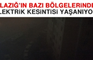 Elazığ'ın Bazı Bölgelerinde Elektrik Kesintisi...