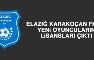 Elazığ Karakoçan FK'da Yeni Oyuncuların Lisansları...