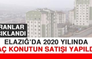 Elazığ'da 2020 Yılında Kaç Konutun Satışı...