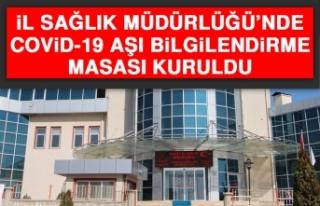 Elazığ'da Covid-19 Aşı Bilgilendirme Masası...
