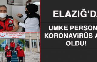 Elazığ'da UMKE Personeli Koronavirüs Aşısı...